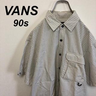 ヴァンズ(VANS)の90s VANS バンズ チェックシャツ ストリート ホワイト(シャツ)