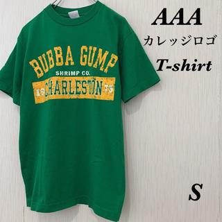 トリプルエー(AAA)のAAA カレッジロゴ Tシャツ 古着 プリント(Tシャツ/カットソー(半袖/袖なし))