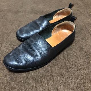 サンシー(SUNSEA)のサンシー  レザースリッポン  シューズ 革靴(ドレス/ビジネス)
