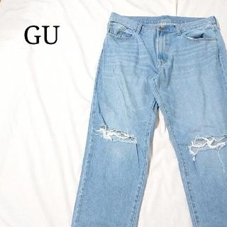 GU - 美品 GU ジーユー ダメージ ジーンズ デニム ボトムス