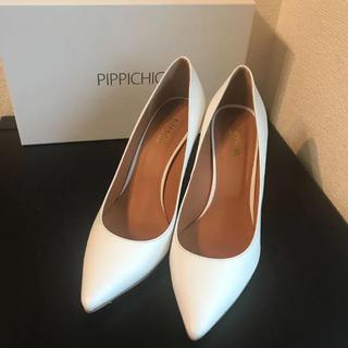ピッピ(Pippi)のPIPPICHIC 白ヒールパンプス (ハイヒール/パンプス)