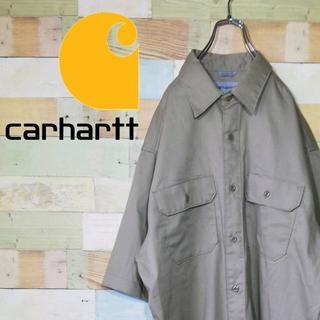 カーハート(carhartt)のカーハート☆ロゴタグダブルポケットビッグサイズ ワークシャツ(シャツ)