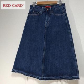 ロンハーマン(Ron Herman)のRED CARD デニムスカート カットオフ ミディ丈 レッドカード(ひざ丈スカート)