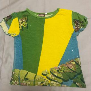 エコレッテ(E-COLETTE)のキッズ  Tシャツ  120  サイケデリック  ビジュー付き(Tシャツ/カットソー)