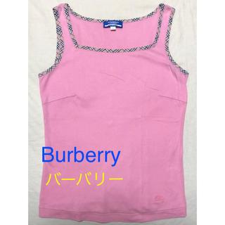 バーバリーブルーレーベル(BURBERRY BLUE LABEL)の◆バーバリー・ブルーレーベル・タンクトップ【38】女児【150.160】(Tシャツ/カットソー)
