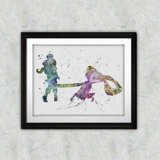 ディズニー(Disney)の日本未発売!ラプンツェル&フリンライダー2・アートポスター【額縁つき・送料無料】(ポスター)