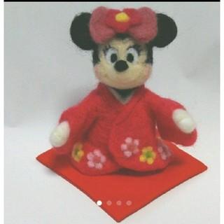ディズニー(Disney)のsold out❤️羊毛フェルト 和装 ミニーちゃん(ぬいぐるみ)