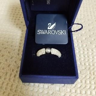 スワロフスキー(SWAROVSKI)の未使用☆SWAROVSKI ブラックパールリング(リング(指輪))