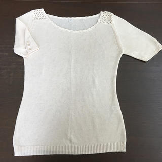 ムジルシリョウヒン(MUJI (無印良品))の綿100%  サマーセーター Mサイズ(カットソー(半袖/袖なし))