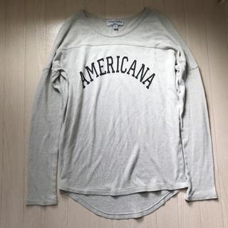 アメリカーナ(AMERICANA)のアメリカーナ ラグラン ロングスリーブTシャツ ロンT(Tシャツ(長袖/七分))