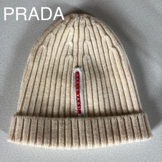 プラダ(PRADA)のPRADA LUNA ROSSA プラダ ルナロッサ ニット帽(ニット帽/ビーニー)