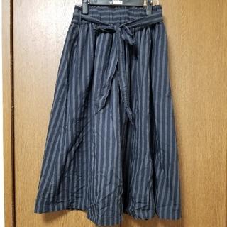 キューブシュガー(CUBE SUGAR)のキューブシュガーストライプ柄スカート(ロングスカート)
