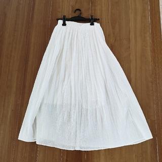 ムジルシリョウヒン(MUJI (無印良品))の無印良品 インド綿楊柳イージーマキシスカート(ロングスカート)