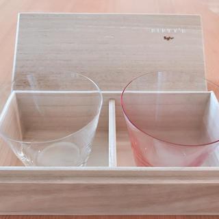 スガハラ(Sghr)のスガハラガラス グラス 木箱付き ペアグラス 値下げしました^_^(グラス/カップ)