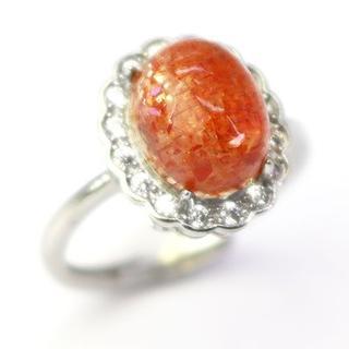 J46-9 レピドクロサイトインクォーツ ストロベリークォーツ指輪(リング(指輪))