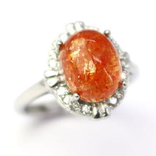 J46-10  レピドクロサイトインクォーツ ストロベリークォーツ指輪(リング(指輪))