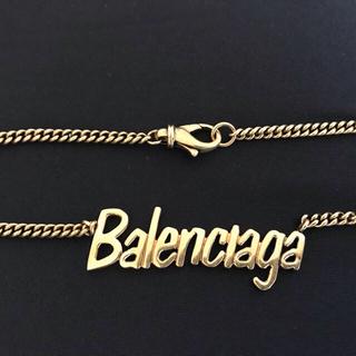 バレンシアガ(Balenciaga)の【新品 希少】Balenciaga タイポ ネックレス ゴールド(ネックレス)