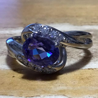 1.51ct❗️タンザナイト&ダイヤモンドリング 指輪 約16号(リング(指輪))