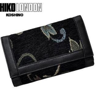 ミチコロンドン(MICHIKO LONDON)のMICHIKO LONDON ミチコロンドン ツイード 三つ折り財布 BK(財布)