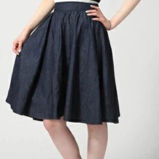 ハレ(HARE)のHARE デニムスカート フレアスカート(ひざ丈スカート)