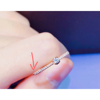 ダイヤモンド リング K18ピンクゴールド(リング(指輪))