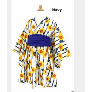 ampersand - アンパサンド  ☆ ひまわり柄浴衣