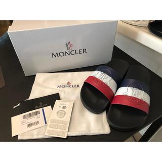 モンクレール(MONCLER)のモンクレール サンダル 19SS BASIL ブラック 42(サンダル)