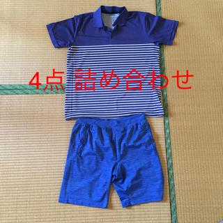 GU - GU ジーユー ポロシャツ ショートパンツ メンズ XL 上下4点セット