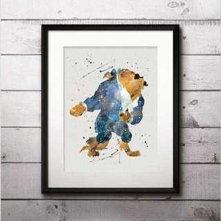 ディズニー(Disney)の日本未発売!ビースト(美女と野獣)アートポスター【額縁つき・送料無料!】(ポスター)