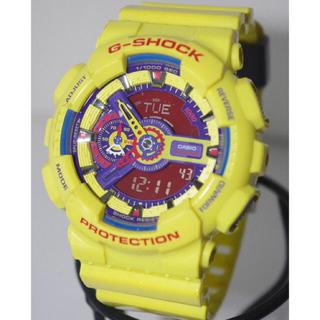 ジーショック(G-SHOCK)のデカG-SHOCK/GA-110/クレイジーカラー/イエロー/デジアナ/ジャンク(腕時計(デジタル))