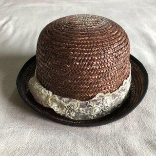 コドモビームス(こども ビームス)の麦わら ボーラーハット kids ブラウン リメイク(帽子)