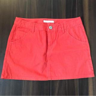 ローリーズファーム(LOWRYS FARM)のローリーズファーム LOWRYSFARM オレンジ 台形スカート(ミニスカート)