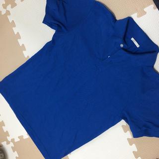 ジーユー(GU)の青 ポロシャツ ブルー XS(ポロシャツ)