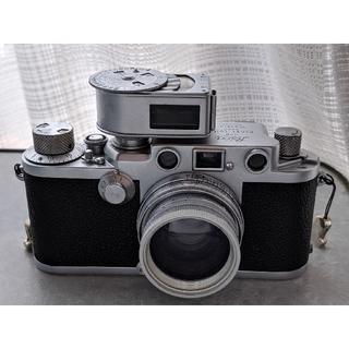 ライカ(LEICA)のLeica Ⅲf(レッドダイヤル)、露出計、Summitar 5cm f2.0 (フィルムカメラ)