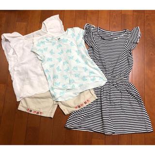 エイチアンドエム(H&M)の女の子子供夏服☆H&Mユニクロまとめ売り4枚110〜120cm(その他)