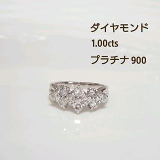 プラチナ900 ダイヤモンドリング フラワー(リング(指輪))