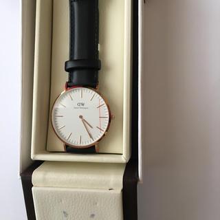 ダニエルウェリントン(Daniel Wellington)のダニエルウェリントン 40MM Rose Gold レザーベルト新品(腕時計(アナログ))