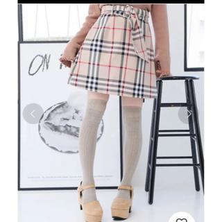 NICE CLAUP バーバリー風スカート