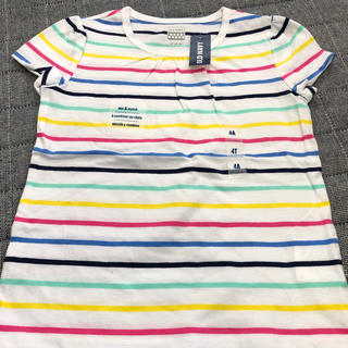 オールドネイビー(Old Navy)の新品❤︎オールドネイビー❤︎4T 100 110 カラフルボーダーTシャツ(Tシャツ/カットソー)