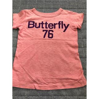 デニムダンガリー(DENIM DUNGAREE)のデニム&ダンガリー☺︎バタフライ フロッキープリントTシャツ 110(Tシャツ/カットソー)