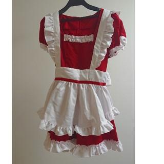 ボディライン(BODYLINE)のメイド服 赤 4点セット(衣装一式)