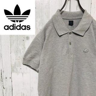 アディダス(adidas)のアディダスオリジナルス☆トレフォイル ワンポイントロゴ グレー ポロシャツ(Tシャツ/カットソー(半袖/袖なし))