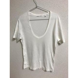 ラッドミュージシャン(LAD MUSICIAN)のラッドミュージシャン Tシャツ 無地 白 Uネック(Tシャツ/カットソー(半袖/袖なし))