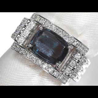 天然アレキサンドライト 2.41ct ダイアモンド pt900 リング 指輪(リング(指輪))