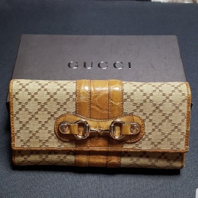 Gucci - GUCCI クロコダイル×ディアマンテ ウォレットの通販 by papillon's shop|グッチならラクマ