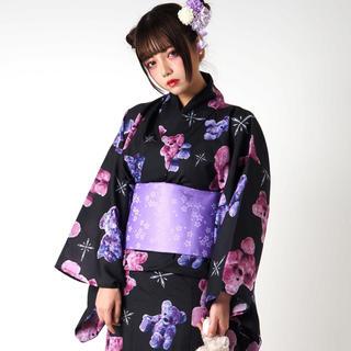 ミルクボーイ(MILKBOY)のTRAVAS TOKYO くま柄 浴衣 紫(浴衣)