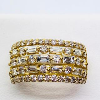 美品 K18YG ダイヤモンド リング  D: 2.00ct(リング(指輪))