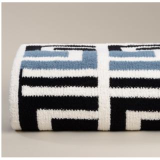 カシウエア(kashwere)のギリシャパターン シェニール ブランケット(毛布)