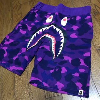 アベイシングエイプ(A BATHING APE)のa bathing ape 1st camo purple shark(ショートパンツ)