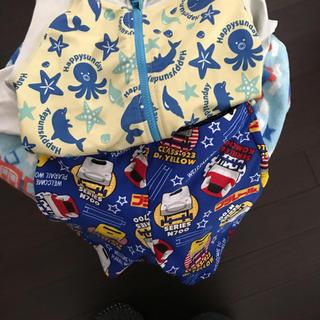 タカラトミー(Takara Tomy)のラシュガードとプラレール水着のセット(水着)